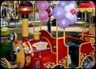 Паровозики детские (Два паровозика по 2 вагона)