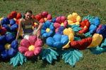 Распускающиеся цветы 7 метров