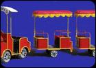 Паровозик из Ромашково (2 вагончика)