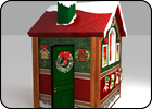 Рождественский домик (дидактический)